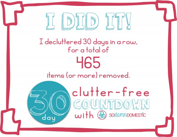 30 day clutter free certificate of completion 2