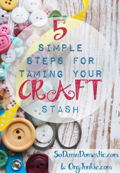 declutter your craft materials