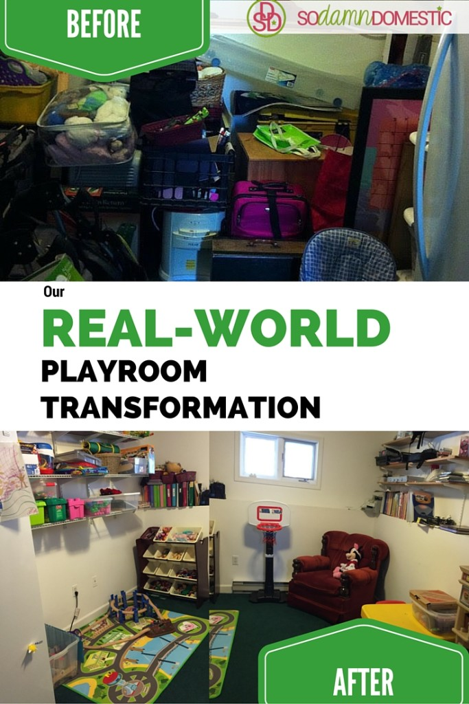 Our real-life, real-world playroom transformation. You can do this too, I promise.