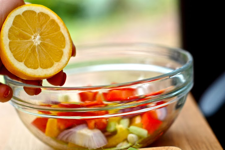 marinated vegetable salad - make a bunch at the beginning of the week, and eat it whenever you feel snacky!