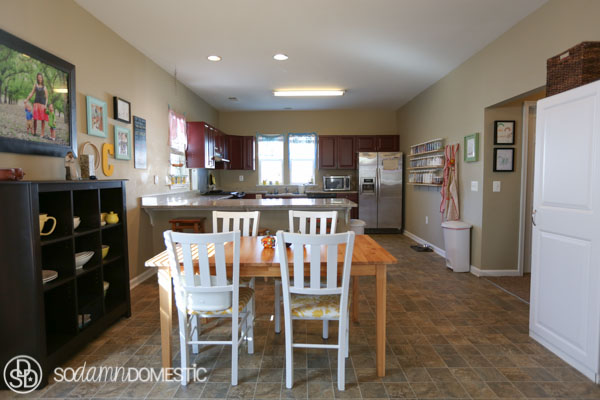 Take a peek into my organized, bright, open dining room!