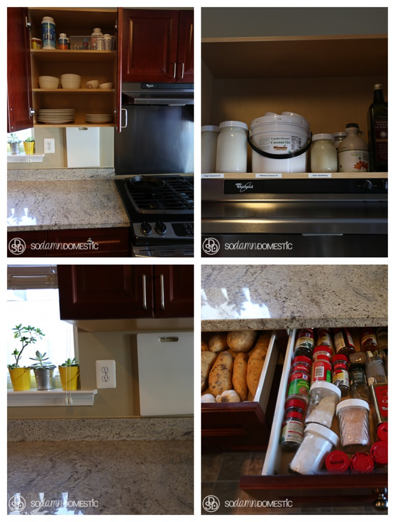 Check out this reveal-all kitchen tour! I love looking in other people's cabinets. Don't you?