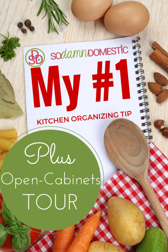 My #1 Kitchen Organizing Tip (Plus, the no-holds-barred, open-cabinets TOUR)