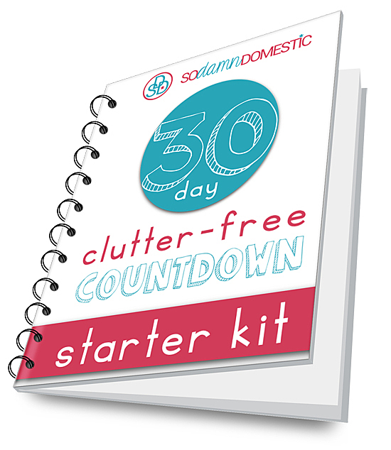 30 Day Clutter Free Countdown Starter Kit (I'm so ready to declutter my house!)