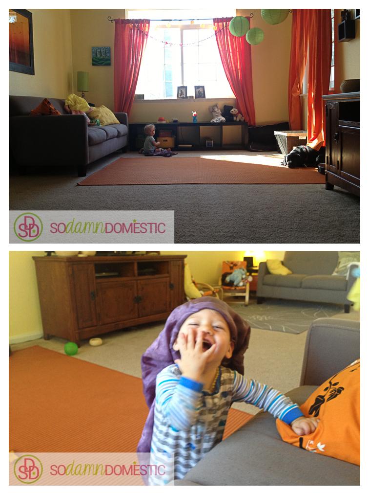 awkwardly long living room furniture arrangement