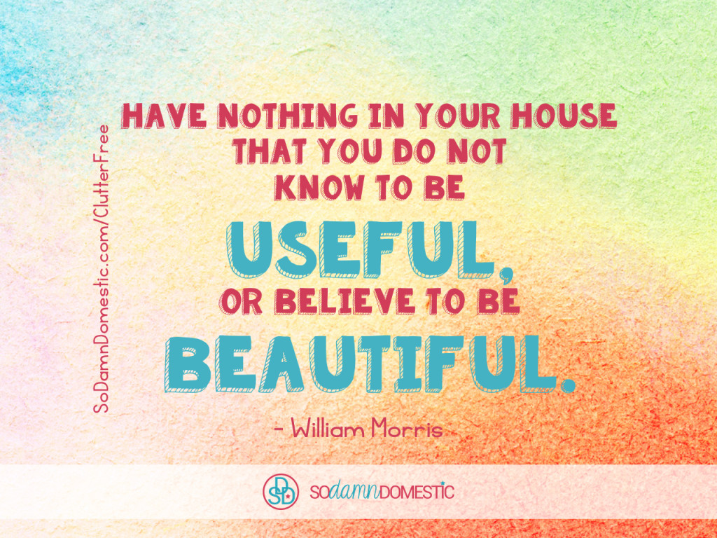 Day 21 of 30 Day Clutter-Free Countdown - Quote about Decluttering