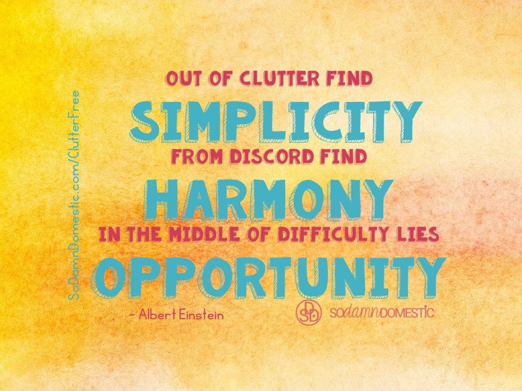 Day 9 of 30 Day Clutter-Free Countdown - Quote about Decluttering