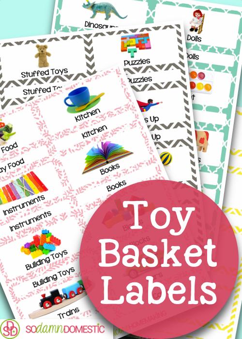 Toy Labels Free Printables Toy Basket Labels Printables