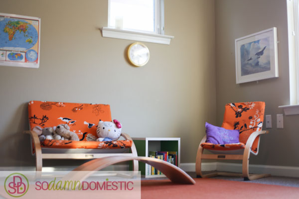 Simple, bright, open-ended playroom tour.